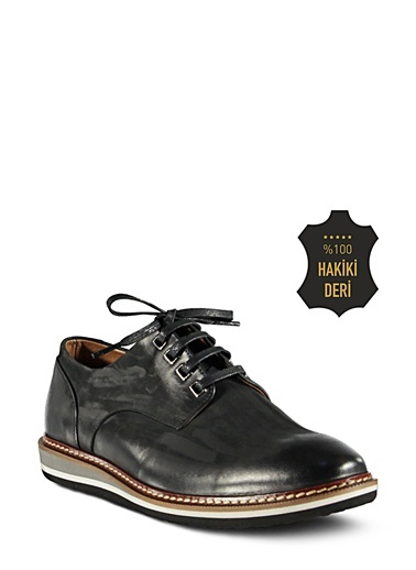 %100 Deri Düz Ayakkabı-Marjin